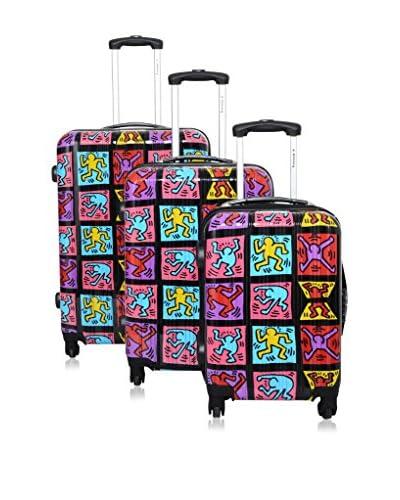Bazar De Maletas Set Trolley Keith Haring