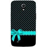 Black Pattern With Blue Bow Hard Polycarbonate Designer Back Case Cover For Samsung Galaxy Mega 6.3 I9200 :: Samsung...