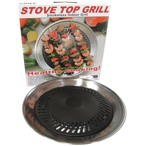 Smokeless Indoor Stove Top Grill Pan - Healthy Home Cooking Kitchen Tool