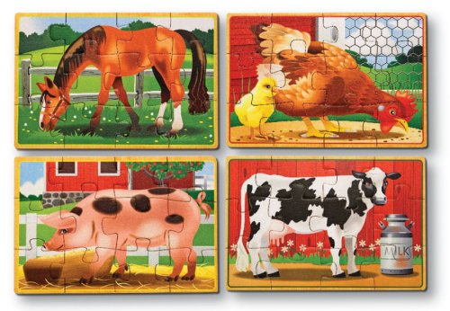 Melissa & Doug Deluxe Farm in a Box Jigsaw Puzzles - Buy Melissa & Doug Deluxe Farm in a Box Jigsaw Puzzles - Purchase Melissa & Doug Deluxe Farm in a Box Jigsaw Puzzles (Melissa & Doug, Toys & Games,Categories,Preschool,Pre-Kindergarten Toys,Puzzles)