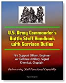 U.S. Army Commander's Battle Staff Handbook with Garrison Duties - Fire Support Officer, Engineer, Air Defense Artillery, Signal, Chemical, Chaplain - Determining Staff Functional Capability