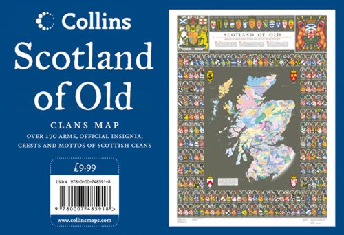 Scotland Of Old Wall Map: Clans Of Scotland