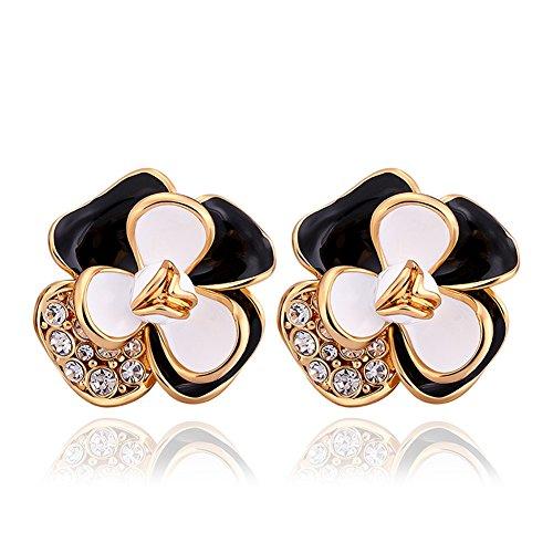 Womens Fashion Plum Flower Stud Earrings Blossom Exquisite Fashion Resin Studs Earring-LanceStore (Plum Blossom Princess Costume)