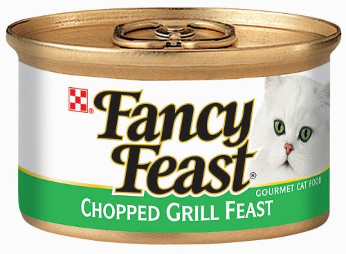Fancy Feast Gourmet Cat Food, Chopped Grill Feast, 3-Ounce Cans (Pack of 24)