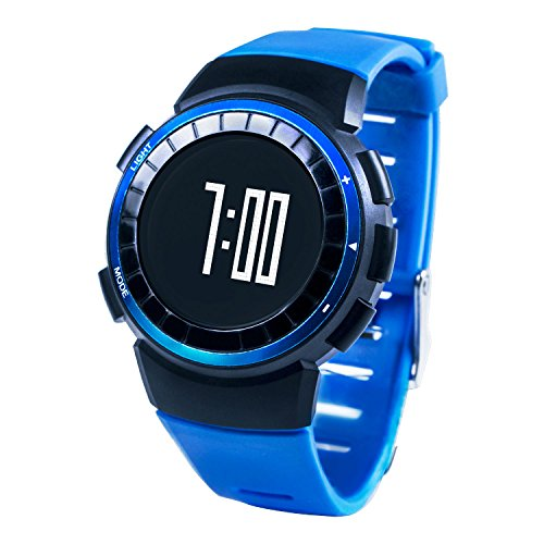 Oittm Sport Watch, Multi- Function Running Watch Luxury Outdoor Leisure Wristwatch Fitness Activity Watches with Running Exercise Timers, Calorie Counter, Stopwatch, Speed Tracking, Night-light, Distance, Record 30 Laps Classic Sport Digital Watch (Blue)