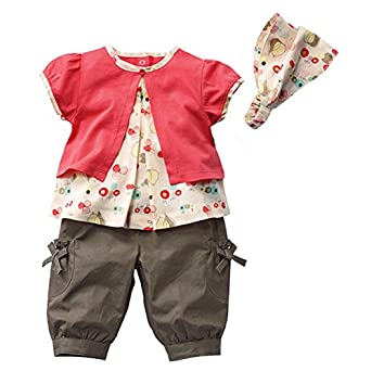 3pcs Kid Girl Baby Top + Pants + Headband Set Outfit Costume Clothes 0-3y
