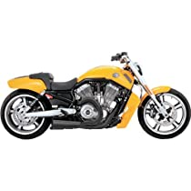 Vance & Hines Competition Series 2-Into-1 Exhaust System - Black , Color: Black 75-116-9