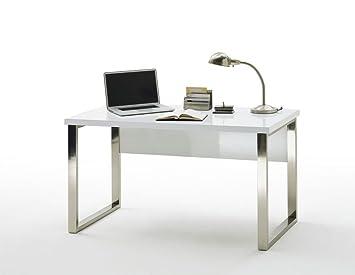 "Beauty.Scouts Schreibtisch ""Myth"", Tisch, Arbeitsplatz, Burotisch, Buromöbel, Arbeitsplatz Möbel, Arbeitszimmer, Home Office, Hochglanz weiss, 140x76x70 cm"