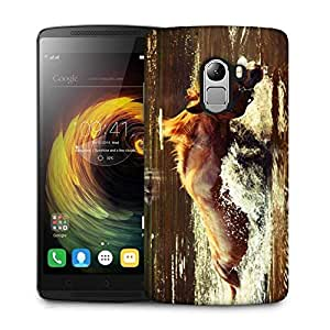 Snoogg Horse In Water Designer Protective Phone Back Case Cover For Lenovo Vibe K4 Note