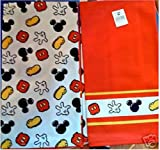 Disney Park Mickey Mouse Body Parts Kitchen Towel Set of 2 NEW