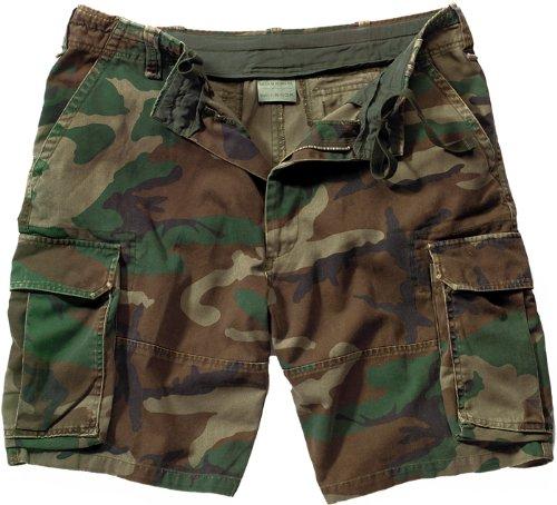 Retro Camouflage BDU Shorts, Camo, X-Large Cotton Camouflage Shorts