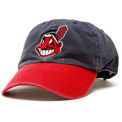Mlb Cleveland Indians '47 Brand Clean Up Home Style Adjustable Cap, One Size, Navy front-225930