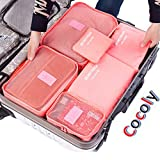 Cocoly 6 sets travel Organizers Packing Cubes Luggage Organizers Compression Pouches With Shopping Bag