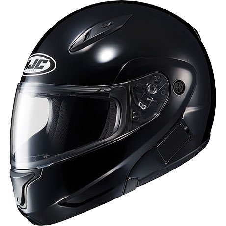 HJC Solid Men's CL-MAX II Bluetooth Sports Bike Motorcycle Helmet – Black / 2X-Large