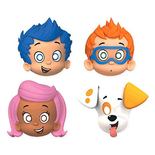 Bubble Guppies Party Hats/ Masks, 8 Count, Party Supplies - 1