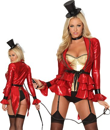 3WISHES 'Sexy Ring Master Costume' Sexy Ringmaster Uniform Halloween Costumes
