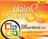 img - for Microsoft  Office Word 2007 Plain & Simple book / textbook / text book