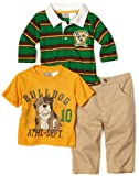 511URbS36OL. SL160  Little Rebels Baby boys Infant Bulldog Athletic Set, Gold, 18 Months