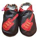 Tiny's - Soft Leather Baby Shoes - Guitar