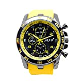 SBAO men s waterproof wristwatch silicone sports and leisure military watches BY EFLYNOVA - Black yellow