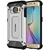 Galaxy S6 EDGE Case Cubix Rugged Armor Case For Samsung Galaxy S6 EDGE (Silver)