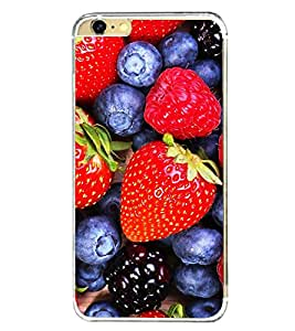 Berries and Strawberries 2D Hard Polycarbonate Designer Back Case Cover for Apple iPhone 6 Plus :: Apple iPhone 6+