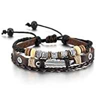 Brown Silver Alloy Genuine Leather Br…