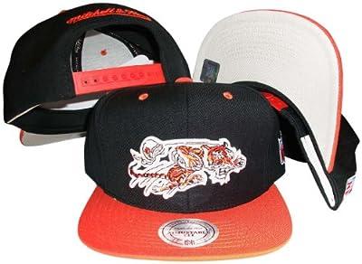 Cincinnati Bengals Black/Orange Two Tone Snapback Adjustable Plastic Snap Back Hat / Cap