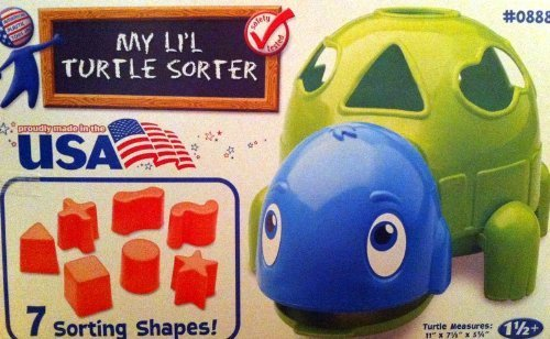 MY LI'L TURTLE SORTER WITH 7 SORTING SHAPES *MADE IN THE USA*