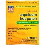 Rite Aid Capsicum Hot Patches 3 Pack