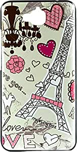 Purple Eyes Exclusive Printed Hard Back Case for Huawei Honor Holly 2 Plus (Lovely Eiffel Tower)