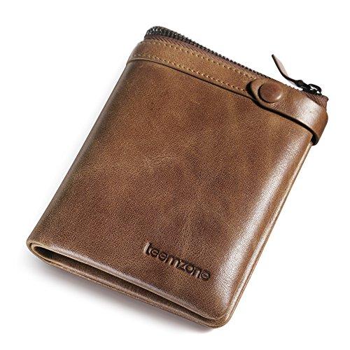 teemzone-billetera-con-cremallera-de-hombre-piel-cartera-de-cera-cuero-marron