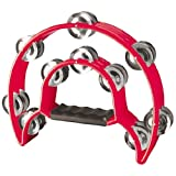 Stagg TAB-1 RD Cutaway Plastic Tambourine with 20 Jingles - Red