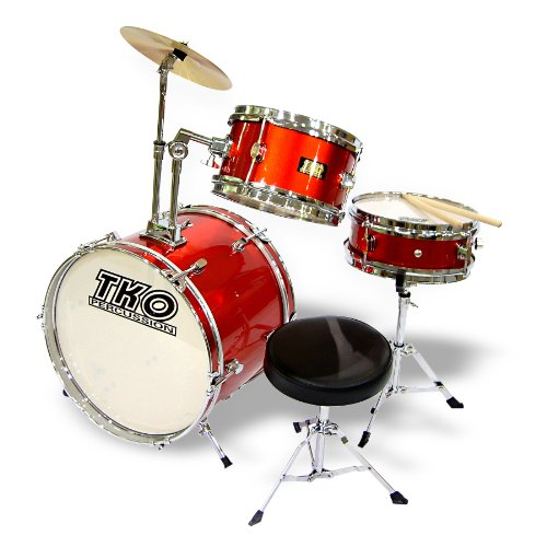 TKO 3-piece Junior Child/Kid's Drum Set - Wine Red