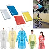 #8: Rain Coat Poncho With Hood Emergency Poncho One Size Fits All - Commuter Friendly Rain Poncho Survival Kit Accessory for Travel Trailblazing Picnics Camping School Sporting Corporate Events - By Orange Creations