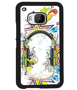 PrintVisa Metal Printed Music Designer Back Case Cover for HTC One M9-D4653