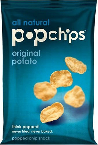 Popchips Original Potato Chips, 0.8-Ounce Single Serve Bags (Pack of 24)