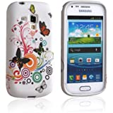 Einzige Colorful SoftGel Flexible TPU Silicone Skin Case Cover for Samsung Galaxy S Duos S7562(Autumn Flower)