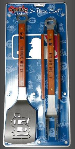St. Louis Cardinals 3-piece Set Sportula Set Grilling Tailgating Tools MLB Spatula