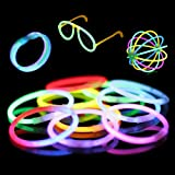 100 8 Premium Glow Stick Bracelets (10 Color Mixed Assortment)
