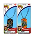 Toy Story Metal Dogtag Necklace Buzz and Woody 2 Asst