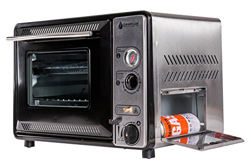 camplux stainless steel portable camping outdoor butane gas oven with carrying bag - Gas Ovens