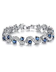 OPK Jewellry Platinum Plated Swarovski Elements Cubic Zirconia bracelet For women Luxuly Wedding Party Jewely