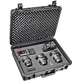 Mantona Outdoor Foto Koffer für DSLR Kamera, GoPro Actioncam, Foto-Equipment uvm. (Größe L, wasserdicht, stoßfest, staubdicht) schwarz