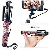 Bling Selfie Stick, Konsait Self-portrait Monopod Foldable Extendable Selfie Stick With Built-in Remote Shutter... - B01A6X81II