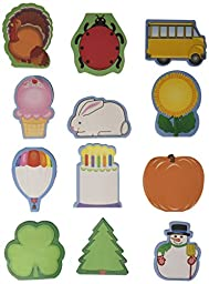 School Smart Seasonal Mini Note Pad Set, 35 Sheets Per Pad (Set of 13 Pads)