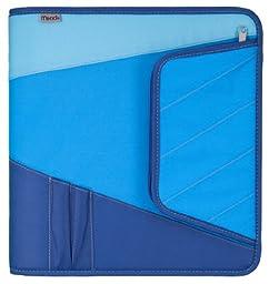 Mead Zipper Binder with Maximum Storage, 3 Ring Binder, 2 Inch, Blue (72192)