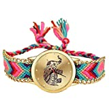 #7: OpenDeal Stylist Multicolor Fabric Belts Analog Watch - For Girls OD-W180