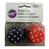 Wilton 415-2314 Patriotic Baking Cups, Mini, 100-Pack