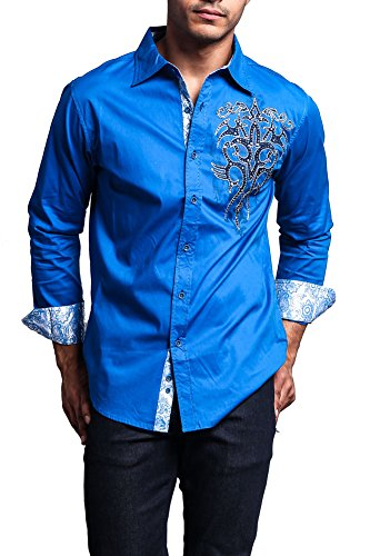 I am in search of a long sleeve button up royal blue for Royals button up shirt